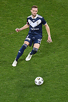 6th June 2021; AAMI Park, Melbourne, Victoria, Australia; A League Football, Melbourne Victory versus Melbourne City; Nick Ansell of the Victory passes the ball through midfield