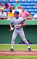 Los Angeles Dodgers Brett Butler (22) during Spring Training 1993 at Baseball City Stadium in Davenport, Florida.  (MJA/Four Seam Images)