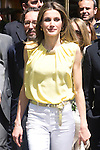 25.05.2012. Prince Felipe of Spain and Princess Letizia attend the inauguration of the Book Fair 2012 at the Retiro in Madrid. In the image Letizia Ortiz (Alterphotos/Marta Gonzalez)