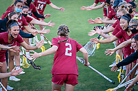 STANFORD, CA - MARCH 12: Jay Brown and team during a game between Arizona State University and Stanford Lacrosse at Stanford Stadium on March 12, 2021 in Stanford, California.