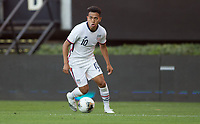 ZAPOPAN, MEXICO - MARCH 21: Sebastian Saucedo #10 of the United States moves towards the box during a game between Dominican Republic and USMNT U-23 at Estadio Akron on March 21, 2021 in Zapopan, Mexico.