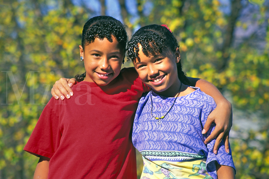 released twin girls African American