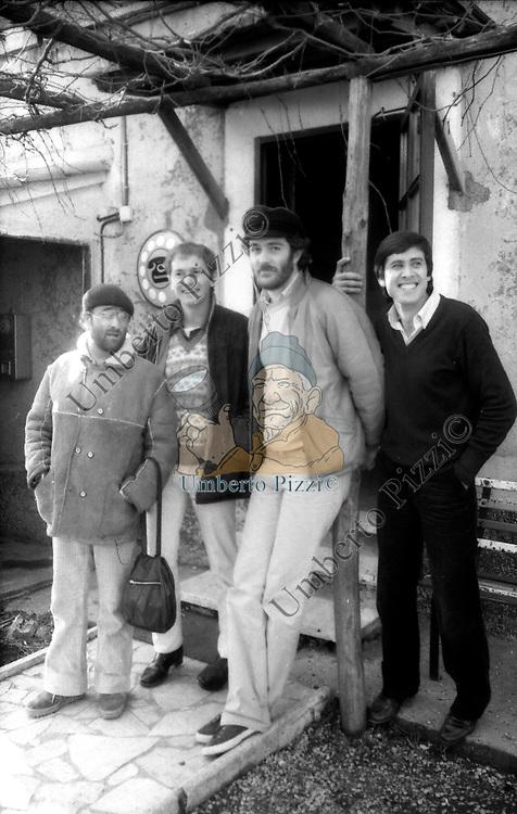 LUCIO DALLA CON RON, FRANCESCO DE GREGORI E GIANNI MORANDI<br /> ROMA 1980