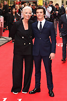 """Emma Thompson and Fionn Whitehead<br /> arriving for the premiere of """"The Children Act"""" at the Curzon Mayfair, London<br /> <br /> ©Ash Knotek  D3420  16/08/2018"""