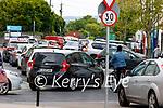 Traffic on Ashe STreet on Friday.