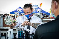 SAN JOSE, CA - SEPTEMBER 4: PayPall Park bartender before a game between Colorado Rapids and San Jose Earthquakes at PayPal Park on September 4, 2021 in San Jose, California.