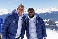 CRANS-MONTANA, SWITZERLAND - MAY 28: Ethan Horvath, Mark McKenzie of the United States at Pointe de la Plaine Morte on May 28, 2021 in Crans-Montana, Switzerland.