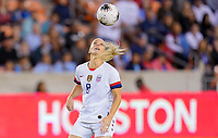 HOUSTON, TX - FEBRUARY 03: Julie Ertz #8 of the United States moves with the ball during a game between Costa Rica and USWNT at BBVA Stadium on February 03, 2020 in Houston, Texas.