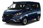 2020 Ford Transit-Custom Nugget 4 Door Camper Van Angular Front automotive stock photos of front three quarter view