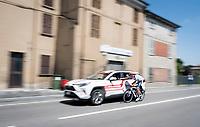 paying a visite to the mobile doctor <br /> <br /> Stage 11: Carpi to Novi Ligure (221km)<br /> 102nd Giro d'Italia 2019<br /> <br /> ©kramon