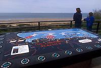 - Normandy, sites of allied landing of June 1944, Omaha Beach memorial....- Normandia, i luoghi degli sbarchi alleati del giugno 1944, memoriale di Omaha Beach