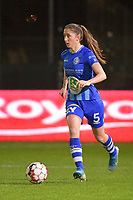 Fran Meersman (5) of AA Gent pictured during a female soccer game between  AA Gent Ladies and Racing Genk on the 12 th matchday of the 2020 - 2021 season of Belgian Scooore Womens Super League , friday 29 th of January 2021  in Oostakker , Belgium . PHOTO SPORTPIX.BE | SPP | DIRK VUYLSTEKE