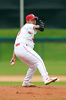 Pitcher Bu Tao (15) of the China National Team during a game vs. the Houston Astros Instructional League team at Holman Stadium in Vero Beach, Florida September 28, 2010.   China is in Florida training for the Asia games which will be played in Guangzhou, China in November.  Photo By Mike Janes/Four Seam Images