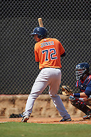 Houston Astros Taylor Jones (72) during an Instructional League game against the Atlanta Braves on September 26, 2016 at Osceola County Stadium Complex in Kissimmee, Florida.  (Mike Janes/Four Seam Images)