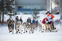 Kevin Harper At the start of the 2016 Junior Iditarod Sled Dog Race on Willow Lake  in Willow, AK February 27, 2016