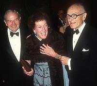 David Rockefeller, sister Abby Rockefeller<br /> and architect Phillip Johnson<br /> Photo By John Barrett/PHOTOlink