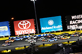 #11: Denny Hamlin, Joe Gibbs Racing, Toyota Camry FedEx Express and #19: Daniel Suarez, Joe Gibbs Racing, Toyota Camry ARRIS