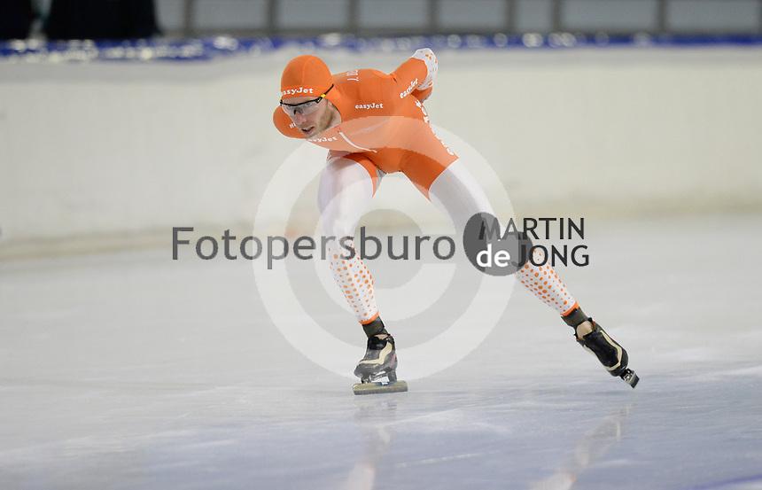 SCHAATSEN: HEERENVEEN: 10-10-2020, KNSB Trainingswedstrijd, Jorrit Bergsma, ©foto Martin de Jong