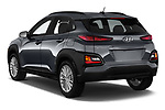Car pictures of rear three quarter view of a 2019 Hyundai Kona SEL AUTO 5 Door SUV angular rear