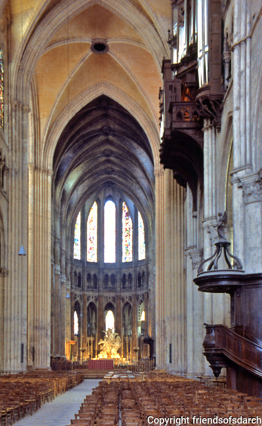 Chartres: Notre Dame Cathedral. The Nave. Reference only.