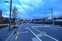 Victoria St at 8am during Level 4 lockdown for the COVID-19 pandemic in Wellington, New Zealand on Monday, 23 August 2021.