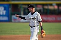 Visalia Rawhide third baseman Drew Ellis (10) during a California League game against the Stockton Ports at Visalia Recreation Ballpark on May 8, 2018 in Visalia, California. Stockton defeated Visalia 6-2. (Zachary Lucy/Four Seam Images)