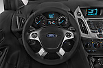 Car pictures of steering wheel view of a 2015 Ford Transit Connect Trend 5 Door Minivan Steering Wheel