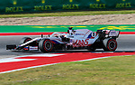 F1 drivers in action during the Formula 1 Aramco United States Grand Prix practice session held at the Circuit of the Americas racetrack in Austin,Texas.