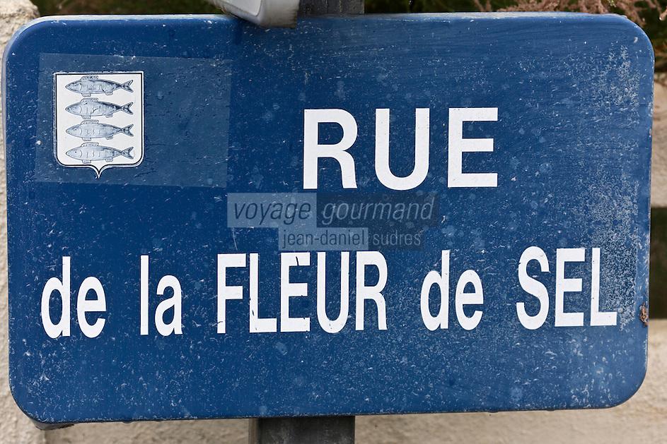 Europe/France/Pays de la Loire/44/Loire Atlantique/Presqu'île Guérandaise/La Turballe:   Plaque de rue -  Allée des Salorges