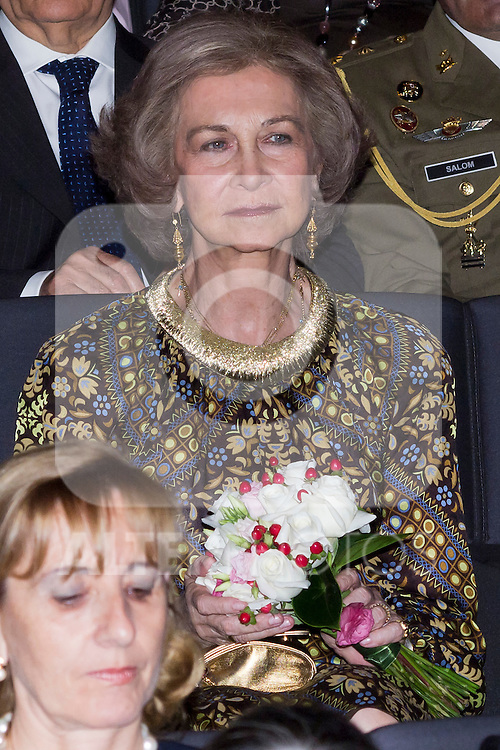 19.06.2012. Queen Sofia of Spain and her sister Irene of Grecia attend the Inaugural Concert of the Festival of Indian Classical Music and Dance 'India In Concert' in Madrid Caixaforum. In the image Queen Sofia (Alterphotos/Marta Gonzalez)