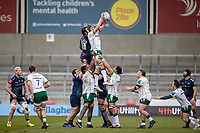 21st March 2021; AJ Bell Stadium, Salford, Lancashire, England; English Premiership Rugby, Sale Sharks versus London Irish; Rob Simmons of London Irish wins a line out