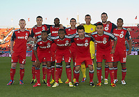 12 September 2012: The Toronto FC starting eleven in an MLS game between the Chicago Fire and Toronto FC at BMO Field in Toronto, Ontario Canada.