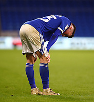 26th December 2020; Cardiff City Stadium, Cardiff, Glamorgan, Wales; English Football League Championship Football, Cardiff City versus Brentford; Harry Wilson of Cardiff City looks dejected after the game