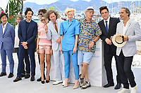 CANNES, FRANCE. July 13, 2021: Stephen Park, Mathieu Amalric, Adrien Brody, Timothee Chalamet, Wes Anderson, Tilda Swinton, Bill Murray, Benicio Del Toro & Alexandre Desplat at the photocall for Wes Anderson's The French Despatch at the 74th Festival de Cannes.<br /> Picture: Paul Smith / Featureflash
