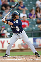 New Orleans Zephyrs designated hitter Mike Cervenak #39 at bat during the game against the Round Rock Express at the Dell Diamond on July 21, 2011 in Round Rock, Texas.  New Orleans defeated Round Rock 7-4.  (Andrew Woolley/Four Seam Images)