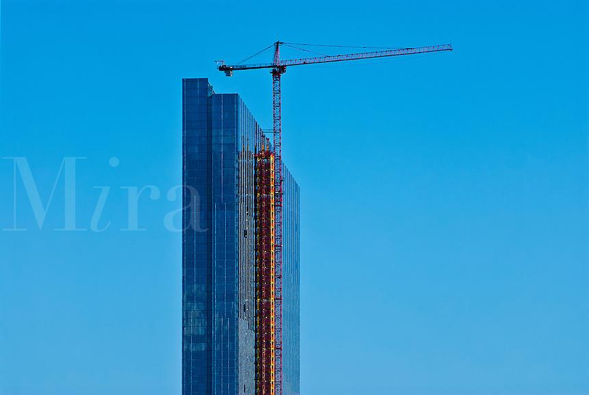 Commercial building under construction, Atlantic City, NJ, New Jersey, USA