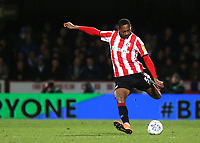 Ethan Pinnock of Brentford in action during Brentford vs Leeds United, Sky Bet EFL Championship Football at Griffin Park on 11th February 2020