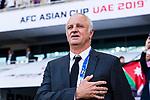 Australia Head Coach Graham Arnold is seen prior to the AFC Asian Cup UAE 2019 Group B match between Australia (AUS) and Jordan (JOR) at Hazza Bin Zayed Stadium on 06 January 2019 in Al Ain, United Arab Emirates. Photo by Marcio Rodrigo Machado / Power Sport Images