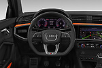 Car pictures of steering wheel view of a 2019 Audi Q3 S-line 5 Door SUV Steering Wheel