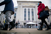 NEW YORK, NEW YORK - FEBRUARY 4:  People attend the COVID-19 vaccination hub at Yankee Stadium on February 5, 2021 in New York City. Yankees legend Mariano Rivera visit the Yankee Stadium on Friday as it was transformed into a COVID-19 vaccination mega-facility for resident of the zone. (Photo by Eduardo MunozAlvarez/VIEWpress)