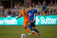 SAN JOSE, CA - JULY 24: Javier López #9 during a game between Houston Dynamo and San Jose Earthquakes at PayPal Stadium on July 24, 2021 in San Jose, California.