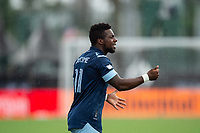 LAKE BUENA VISTA, FL - JULY 23: Cristian Dajome #11 of Vancouver Whitecaps FC asking for the ball during a game between Chicago Fire and Vancouver Whitecaps at Wide World of Sports on July 23, 2020 in Lake Buena Vista, Florida.