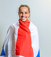The Hague, The Netherlands, Februari 6, 2020,    Sportcampus, FedCup  Netherlands -  Balarus, Arantxa Rus (NED)<br /> Photo: Tennisimages/Henk Koster