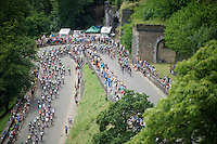 peloton attacking the Citadel de Namur<br /> <br /> stage 4: Seraing (BEL) - Cambrai (FR) <br /> 2015 Tour de France