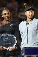 Serena Williams Naomi Osaka<br /> US Tennis Open 9/8/18<br /> Photo By John Barrett/PHOTOlink