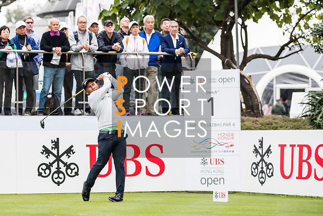 Thongchai Jaidee of Thailand tees off during the day three of UBS Hong Kong Open 2017 at the Hong Kong Golf Club on 25 November 2017, in Hong Kong, Hong Kong. Photo by Yu Chun Christopher Wong / Power Sport Images