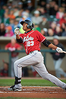 Great Lakes Loons outfielder Jacob Scavuzzo (23) at bat during a game against the Dayton Dragons on May 21, 2015 at Fifth Third Field in Dayton, Ohio.  Great Lakes defeated Dayton 4-3.  (Mike Janes/Four Seam Images)