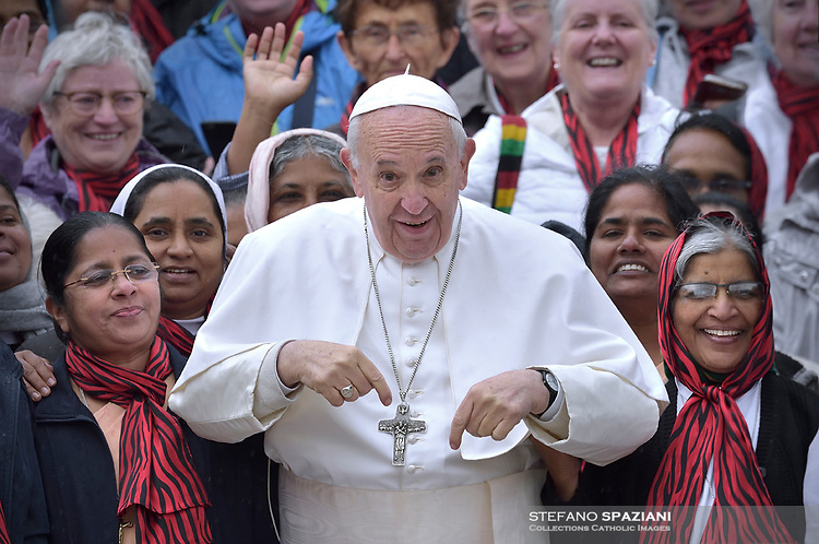 Pope Francis during of a weekly general audience at St Peter's square in Vatican, May 15, 2019
