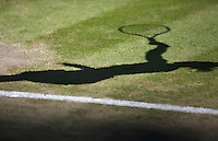England, London, 28.06.2014. Tennis, Wimbledon, AELTC, Shadow on grass<br /> Photo: Tennisimages/Henk Koster