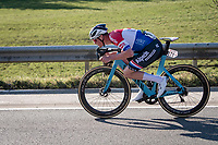 Mathieu Van der Poel (NED/Alpecin-Fenix) pulling a quick supertuck while it's still not 'illegal'...<br /> <br /> 73rd Kuurne - Brussels - Kuurne 2021<br /> ME (1.Pro)<br /> 1 day race from Kuurne to Kuurne (BEL/197km)<br /> <br /> ©kramon